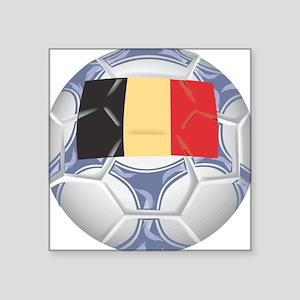 "Belgium Championship Soccer Square Sticker 3"" x 3"""