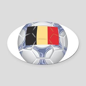 Belgium Championship Soccer Oval Car Magnet