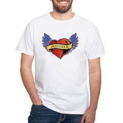 Mother Heart Tattoo White T-Shirt