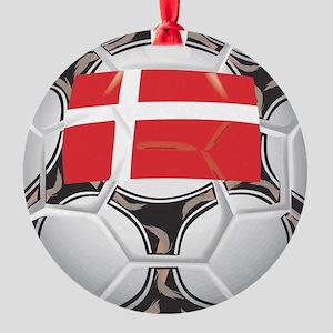 Championship Denmark Soccer Round Ornament