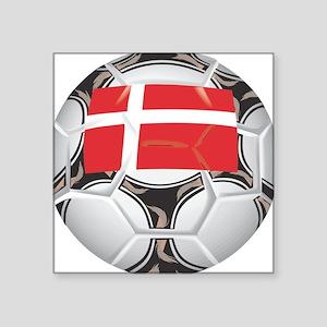 "Championship Denmark Soccer Square Sticker 3"" x 3"""