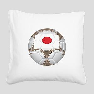 Championship Japan Soccer Square Canvas Pillow