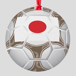 Championship Japan Soccer Round Ornament