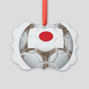 Championship Japan Soccer Picture Ornament