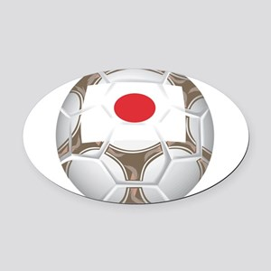 Championship Japan Soccer Oval Car Magnet