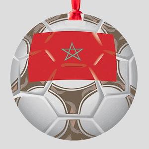 Championship Morocco Soccer Round Ornament