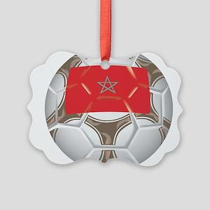 Championship Morocco Soccer Picture Ornament