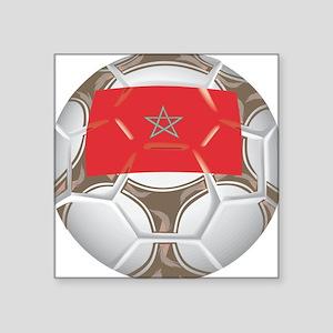 """Championship Morocco Soccer Square Sticker 3"""" x 3"""""""