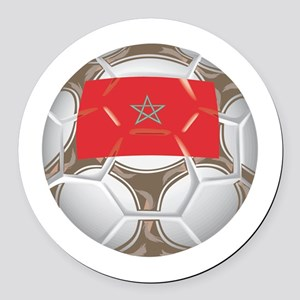 Championship Morocco Soccer Round Car Magnet