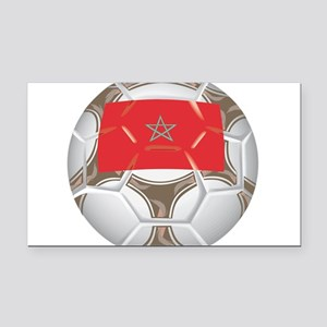 Championship Morocco Soccer Rectangle Car Magnet