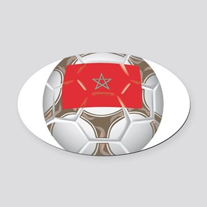 Championship Morocco Soccer Oval Car Magnet