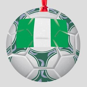 Championship Nigeria Soccer Round Ornament