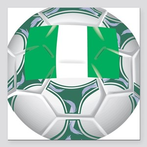 "Championship Nigeria Soccer Square Car Magnet 3"" x"