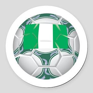 Championship Nigeria Soccer Round Car Magnet