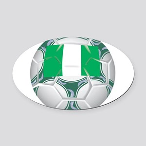 Championship Nigeria Soccer Oval Car Magnet