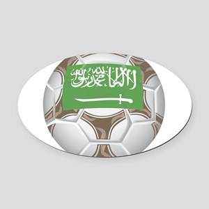 Championship Saudi Arabia Oval Car Magnet