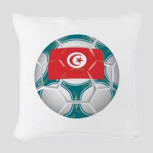 Championship Tunisia Soccer Woven Throw Pillow