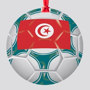 Championship Tunisia Soccer Round Ornament