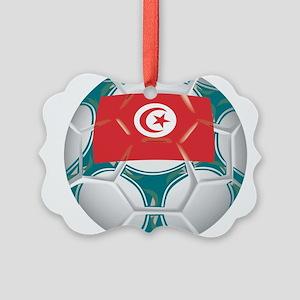 Championship Tunisia Soccer Picture Ornament