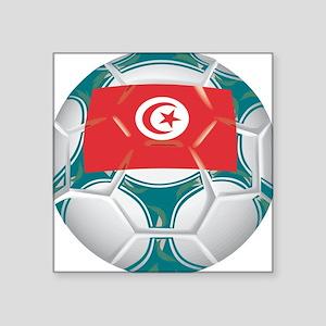 """Championship Tunisia Soccer Square Sticker 3"""" x 3"""""""