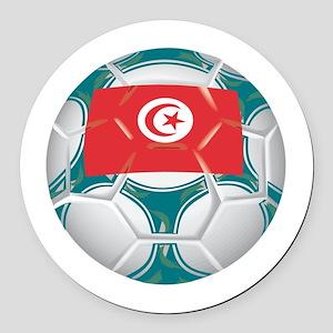 Championship Tunisia Soccer Round Car Magnet