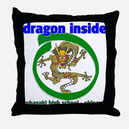 Dragon Inside Throw Pillow