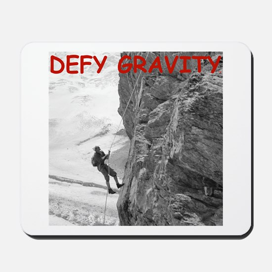 Retro Rock Climbing Mousepad