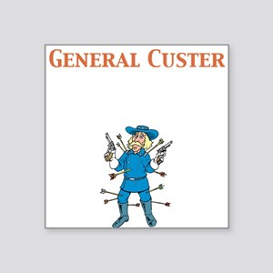"General Custer Square Sticker 3"" x 3"""