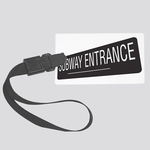 Subway-Entrance Large Luggage Tag