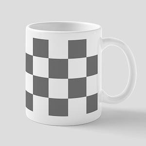 Gray Checkerboard Mug