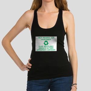 Recycle!-06 Racerback Tank Top
