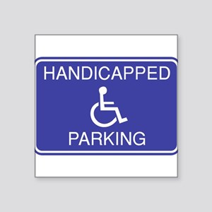 "Parking-2 Square Sticker 3"" x 3"""