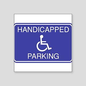 "Parking-2 Square Sticker 3"" x 3"""