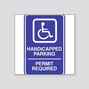 "Parking-4 Square Sticker 3"" x 3"""