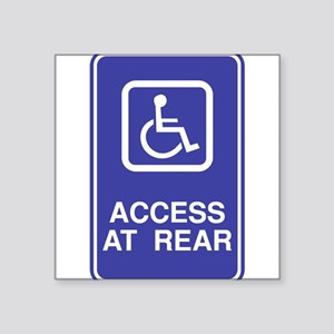 "Access-at-Rear Square Sticker 3"" x 3"""