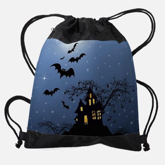Halloween House Drawstring Bag