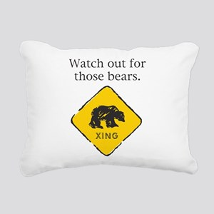 bears_sign Rectangular Canvas Pillow