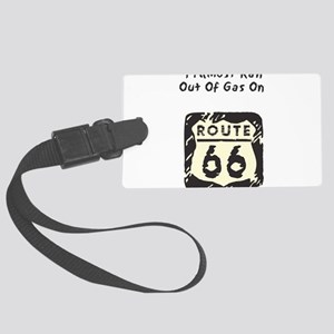 almost_gas_rt66 Large Luggage Tag