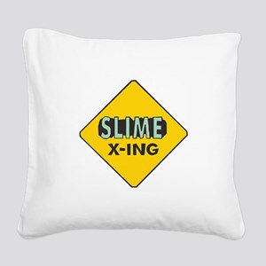 Slime-X-Ing Square Canvas Pillow