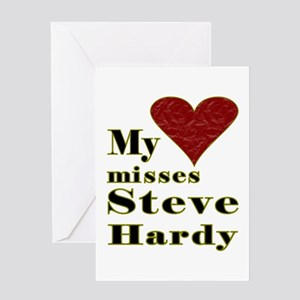 Heart Misses Steve Hardy Greeting Card