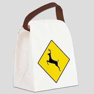 Deer Sign Canvas Lunch Bag