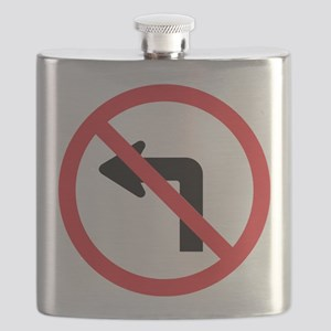 No Left Turn Flask