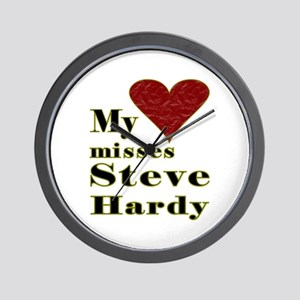 Heart Misses Steve Hardy Wall Clock