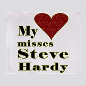 Heart Misses Steve Hardy Throw Blanket