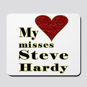 Heart Misses Steve Hardy Mousepad