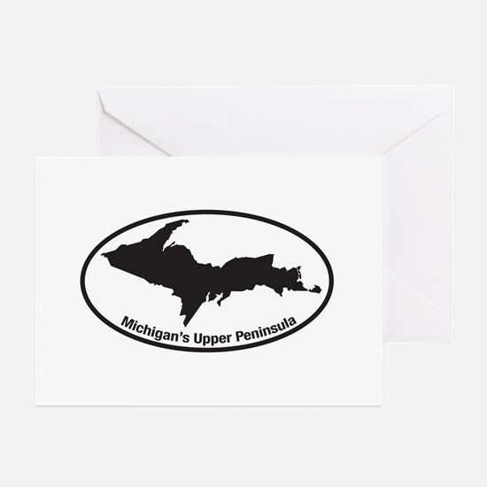 Upper Peninsula Oval Greeting Cards (Pk of 10)