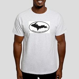 Upper Peninsula Oval Light T-Shirt