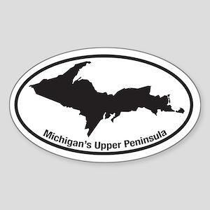 Upper Peninsula Oval Oval Sticker