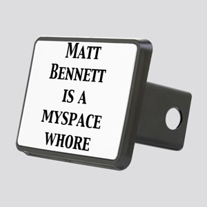 mb-is-a-myspace-whore Rectangular Hitch Cover