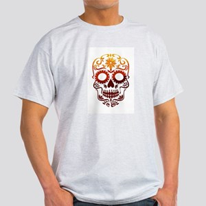 Red and Orange Sugar Skull T-Shirt